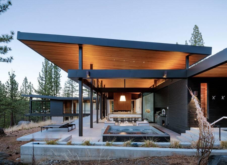 Дома из стекла и камня. стеклянные дома с деревянным каркасом. процесс проектирования стеклянного дома