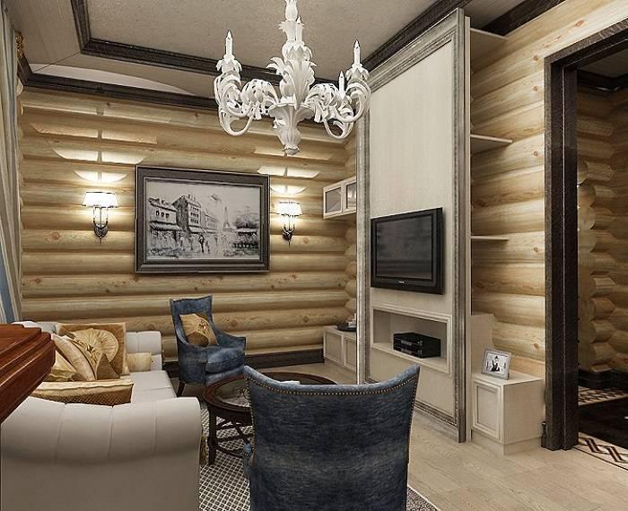 Отделка деревянного дома внутри, фото оригинальных интерьеров