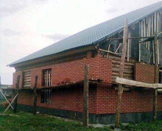 Как обложить дом кирпичом: облицовка деревянных стен