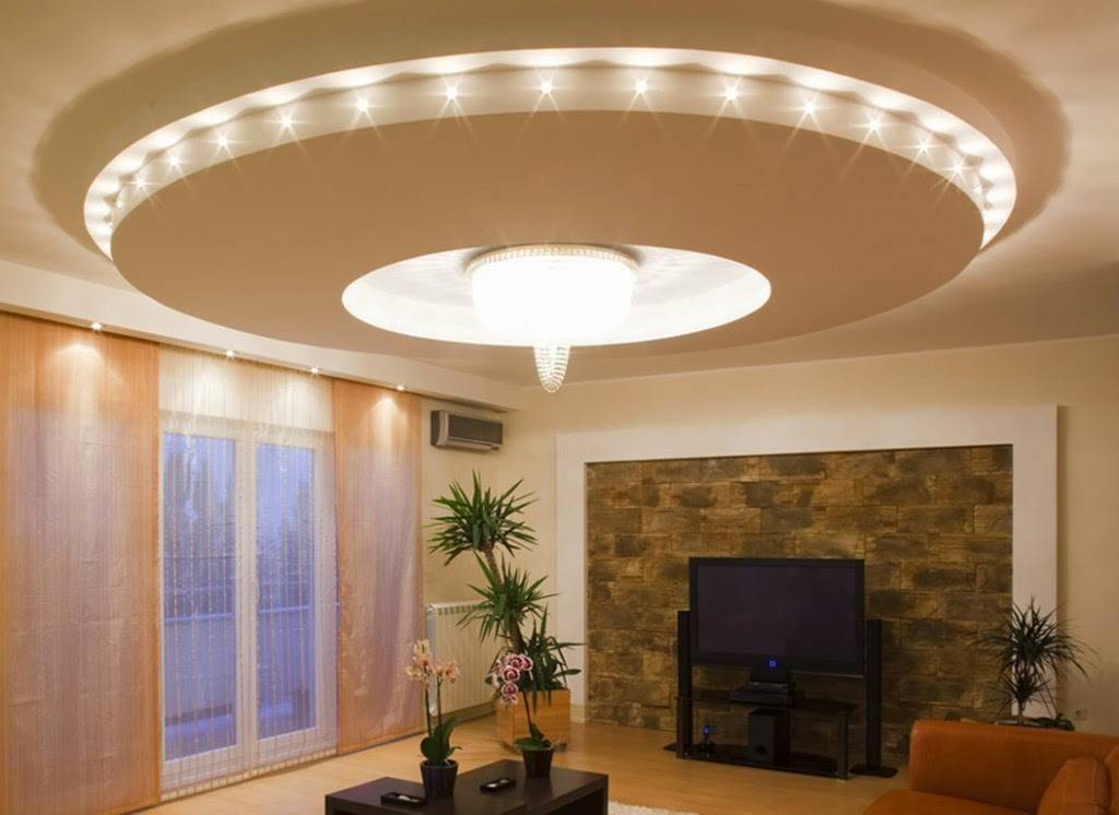 Как создать красивый парящий потолок используя гипсокартон