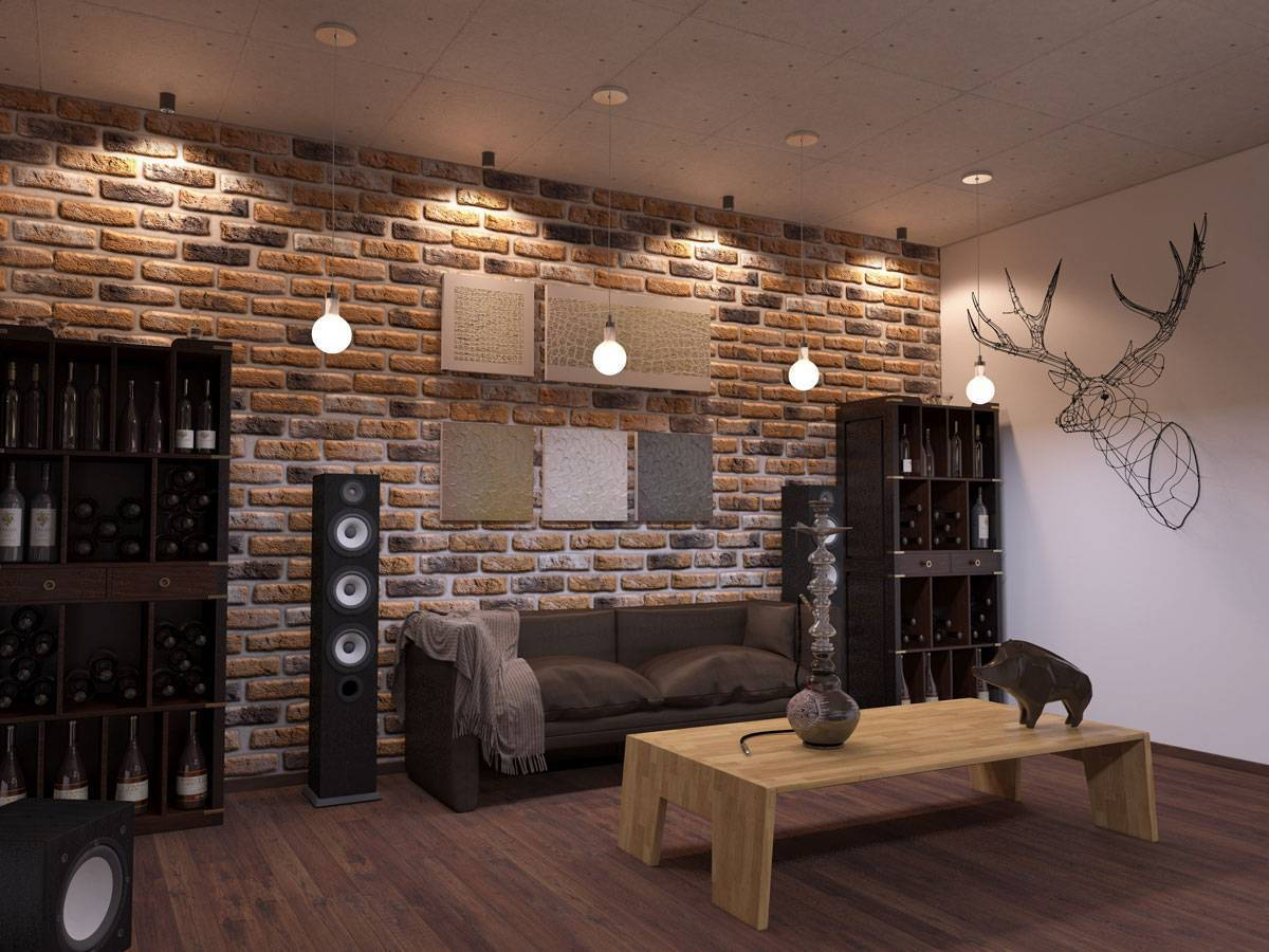 Декоративный кирпич в интерьере | фото, идеи - школа ремонта