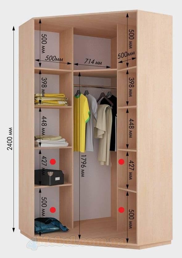 Грамотная планировка шкафа-купе: лучшие варианты и нестандартные решения