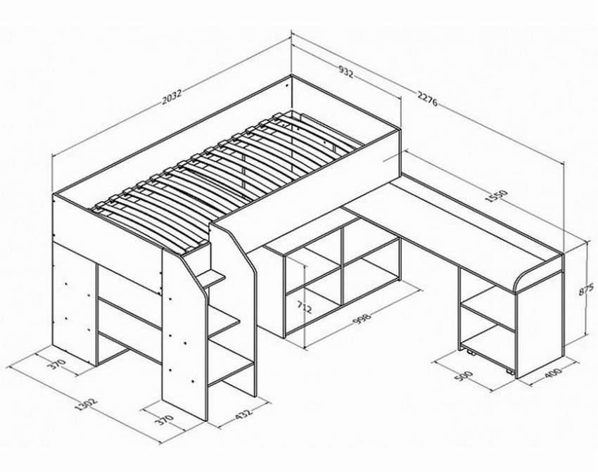 Кровать чердак своими руками — выбор конструкции, размеры, схемы и чертежи