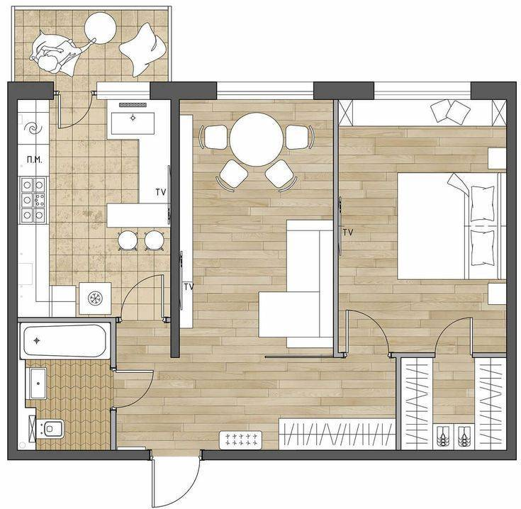 Как перепланировать однокомнатную квартиру: изучаем тщательно
