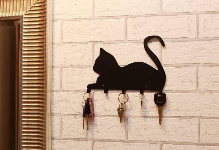 Как сделать ключницу на стену