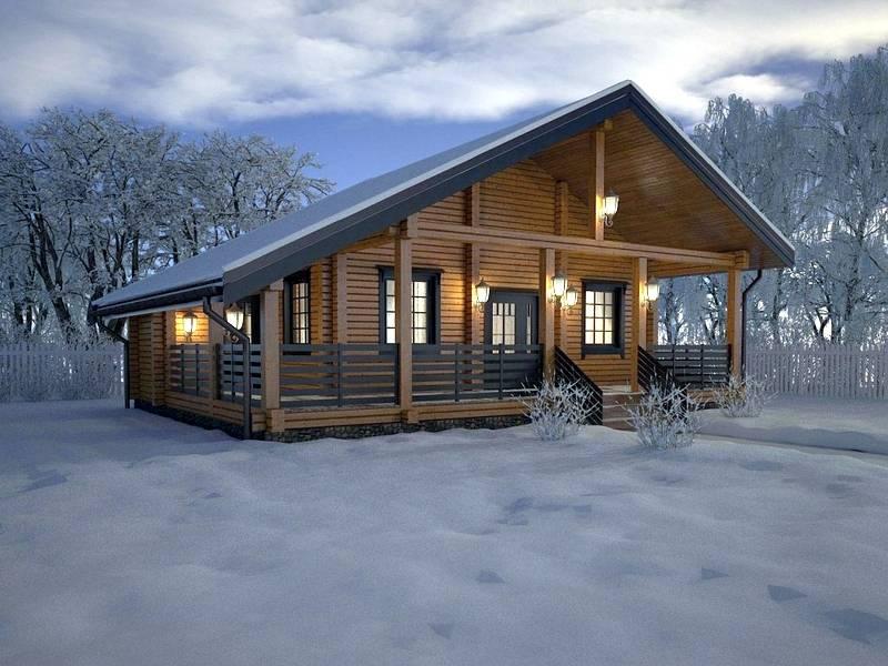 Зимний дом из бруса и строительство для круглогодичного проживания