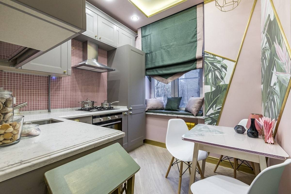 Кухня 9 кв. м.: 75 фото лучших предложений по оформлению и дизайну