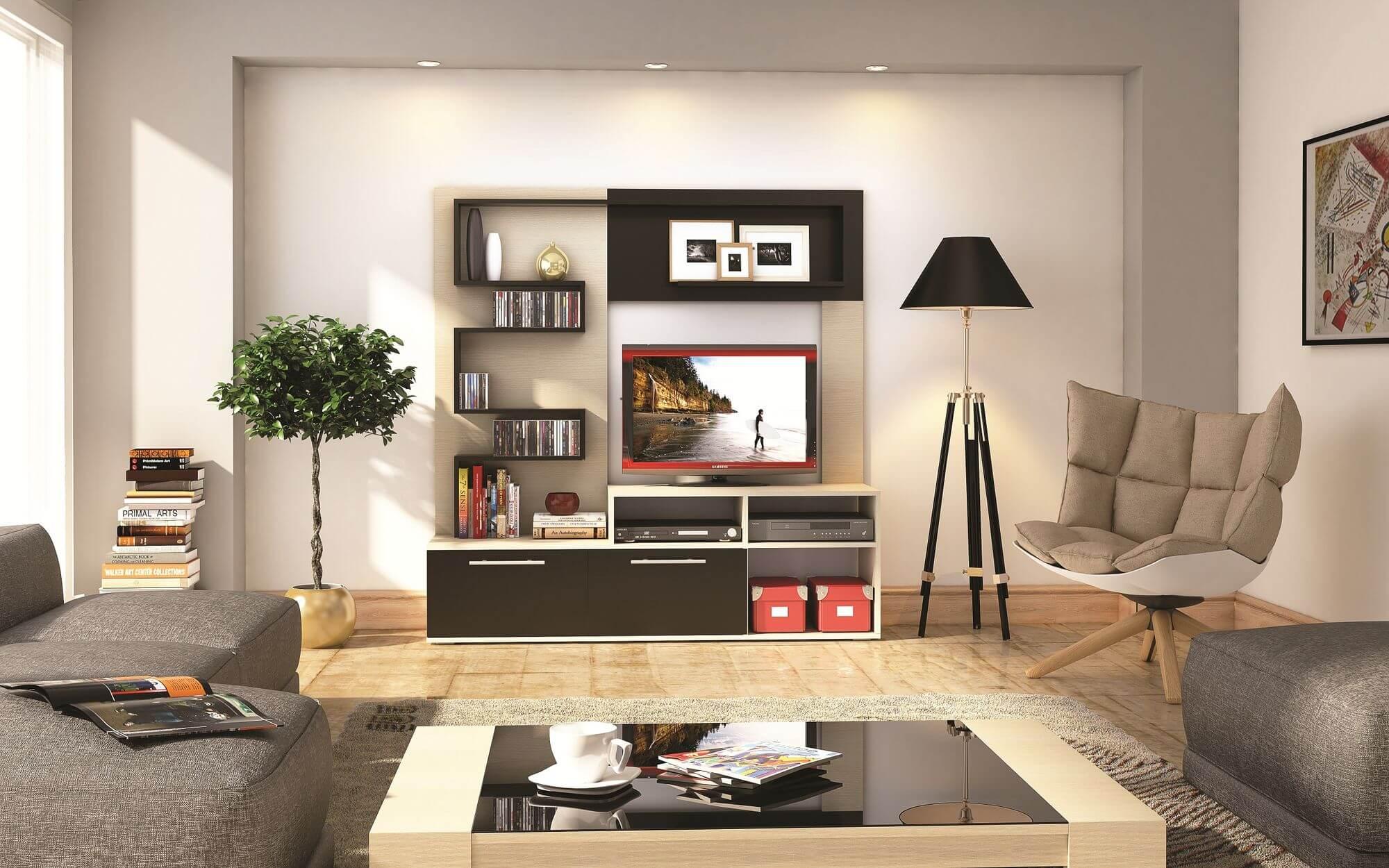 Горка в гостиную: современные идеи дизайна интерьера на фото