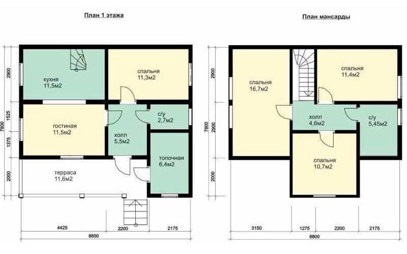Планировка дома 6 на 9 м (46 фото): проект одноэтажного или двухэтажного дома размером 6х9 кв.м с мансардой, варианты и примеры с отличным дизайном