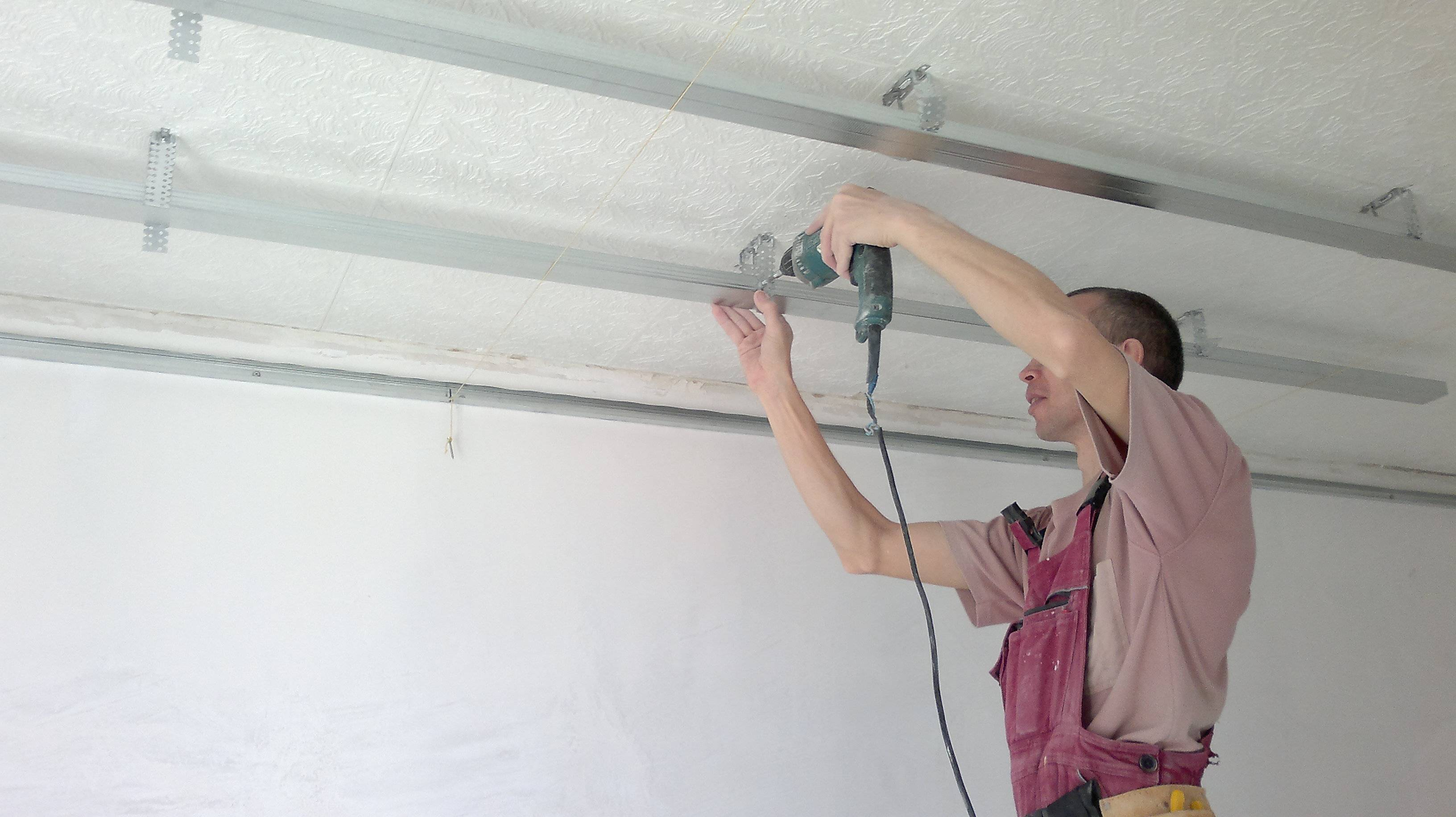 Демонтаж  потолка из гипсокартона