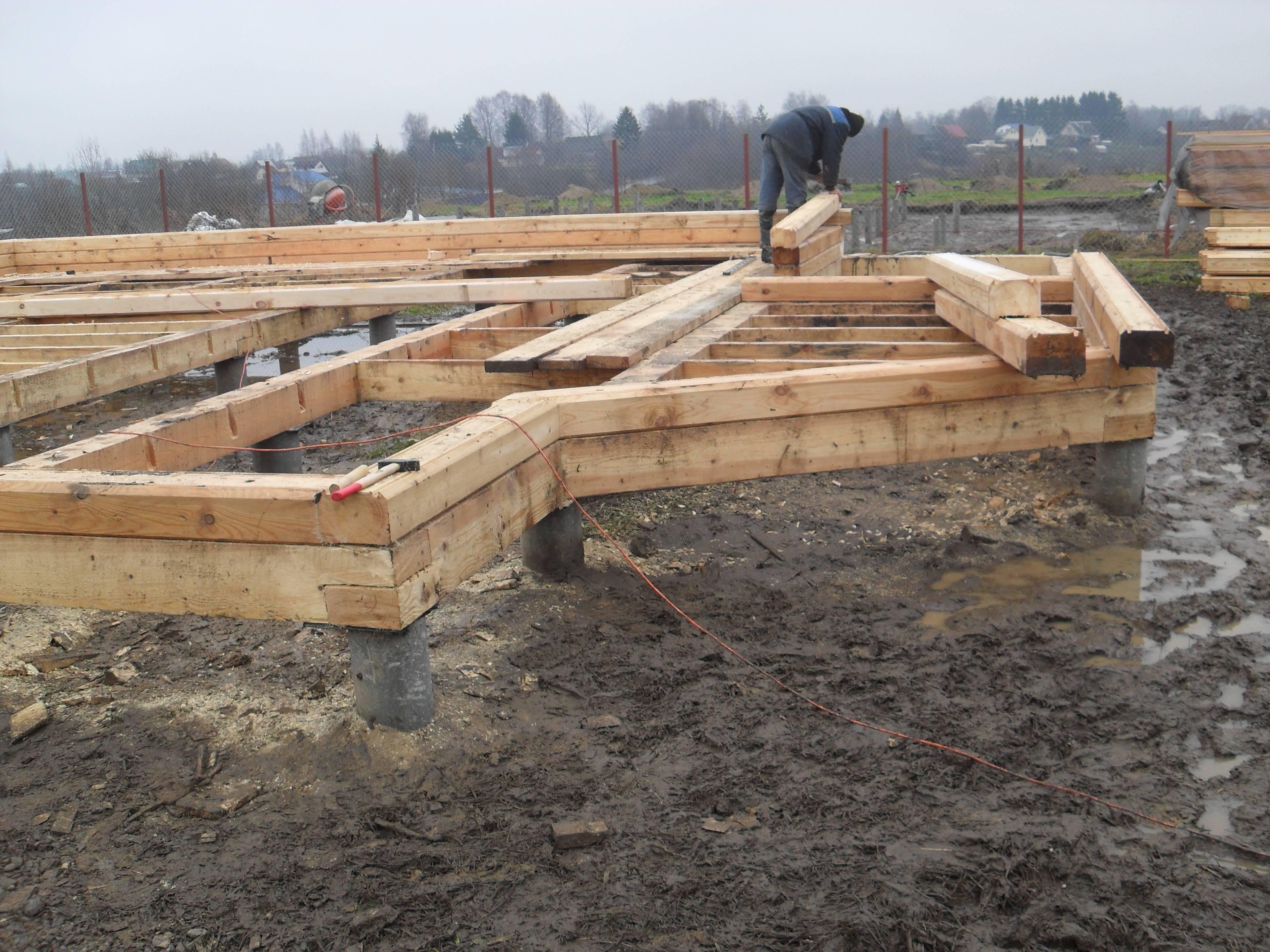 Какой фундамент лучше для дома из бревна - строитель