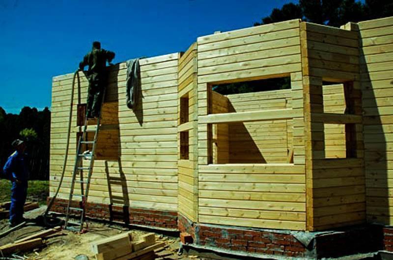 Дом из бруса своими руками и видео как построить из дерева