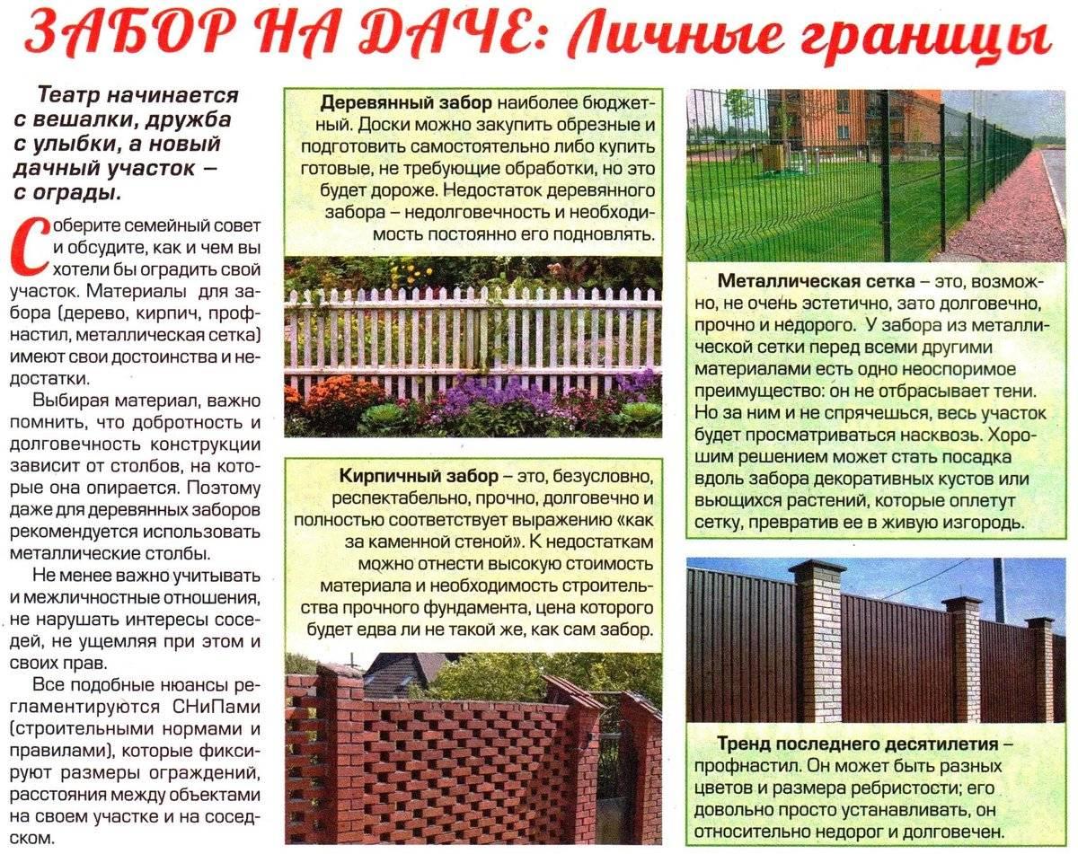 Какой высоты должен быть забор между соседями в частном доме по закону?