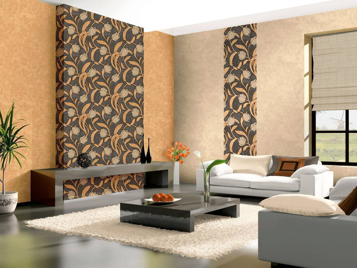 Как оформить небольшое жилое пространство: фото обоев для маленькой гостиной комнаты нескольких стилевых направлений
