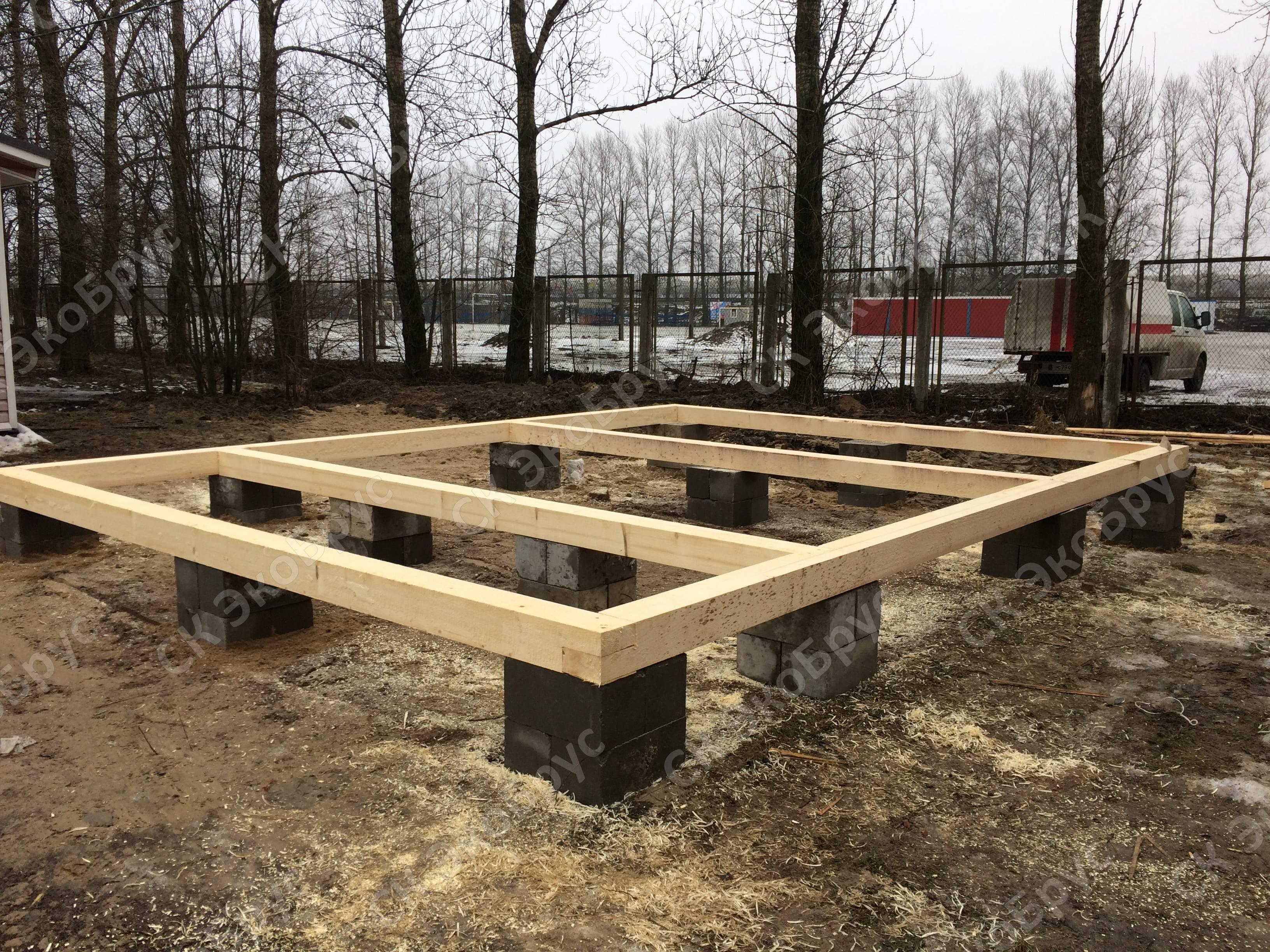 Столбчатый фундамент для каркасного дома: инструкция по монтажу