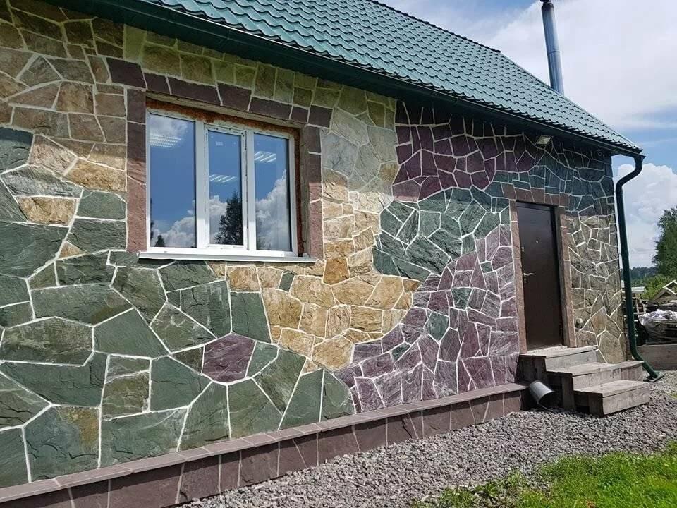 Гибкий камень для фасада дома: плюсы и минусы, монтаж своими руками, цена