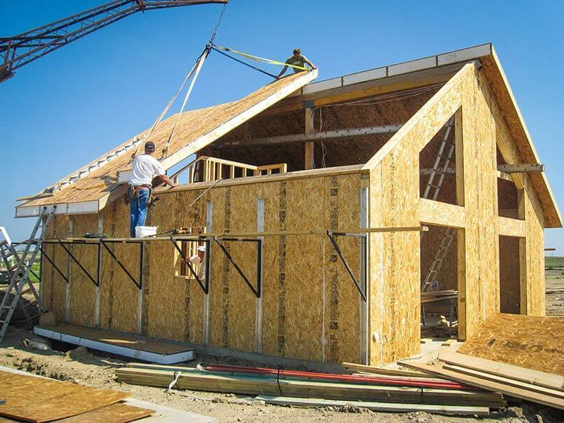 Каркасно-панельные дома и технология строительства