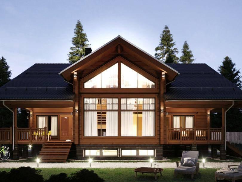 Интерьер дома из бруса — фото дизайна по комнатам