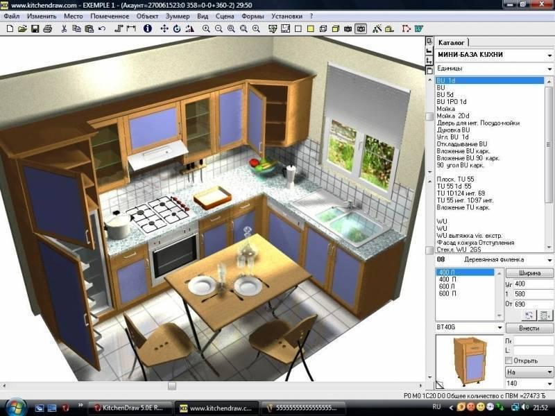 Чертеж кухни с размерами всех шкафов: самостоятельная проектировка