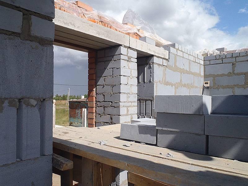 Опирание монолитного перекрытия на газобетон - строитель