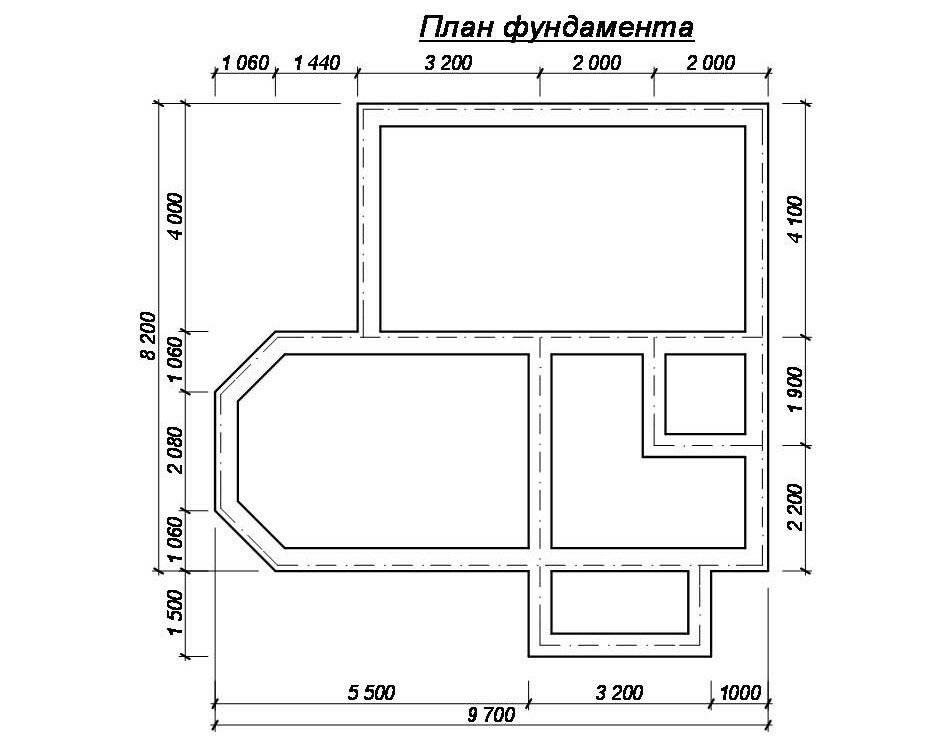 Пример расчета монолитного ленточного фундамента