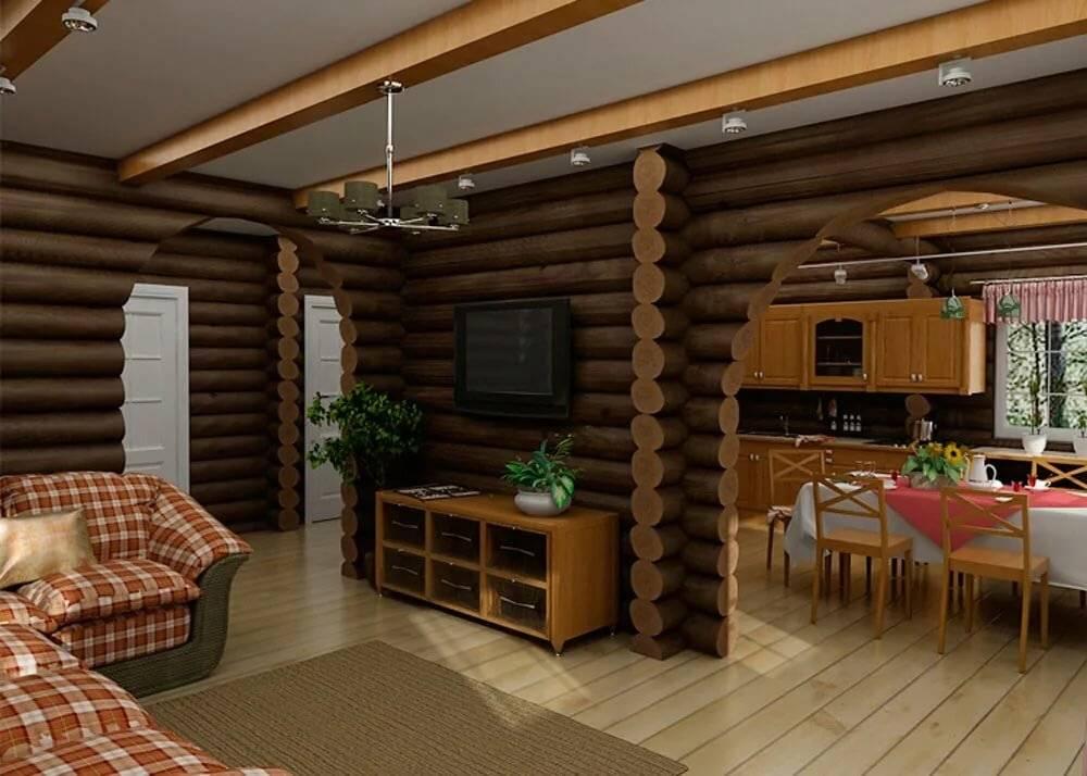 Дизайн интерьера деревянного дома из бревна внутри: лучшие идеи на фото