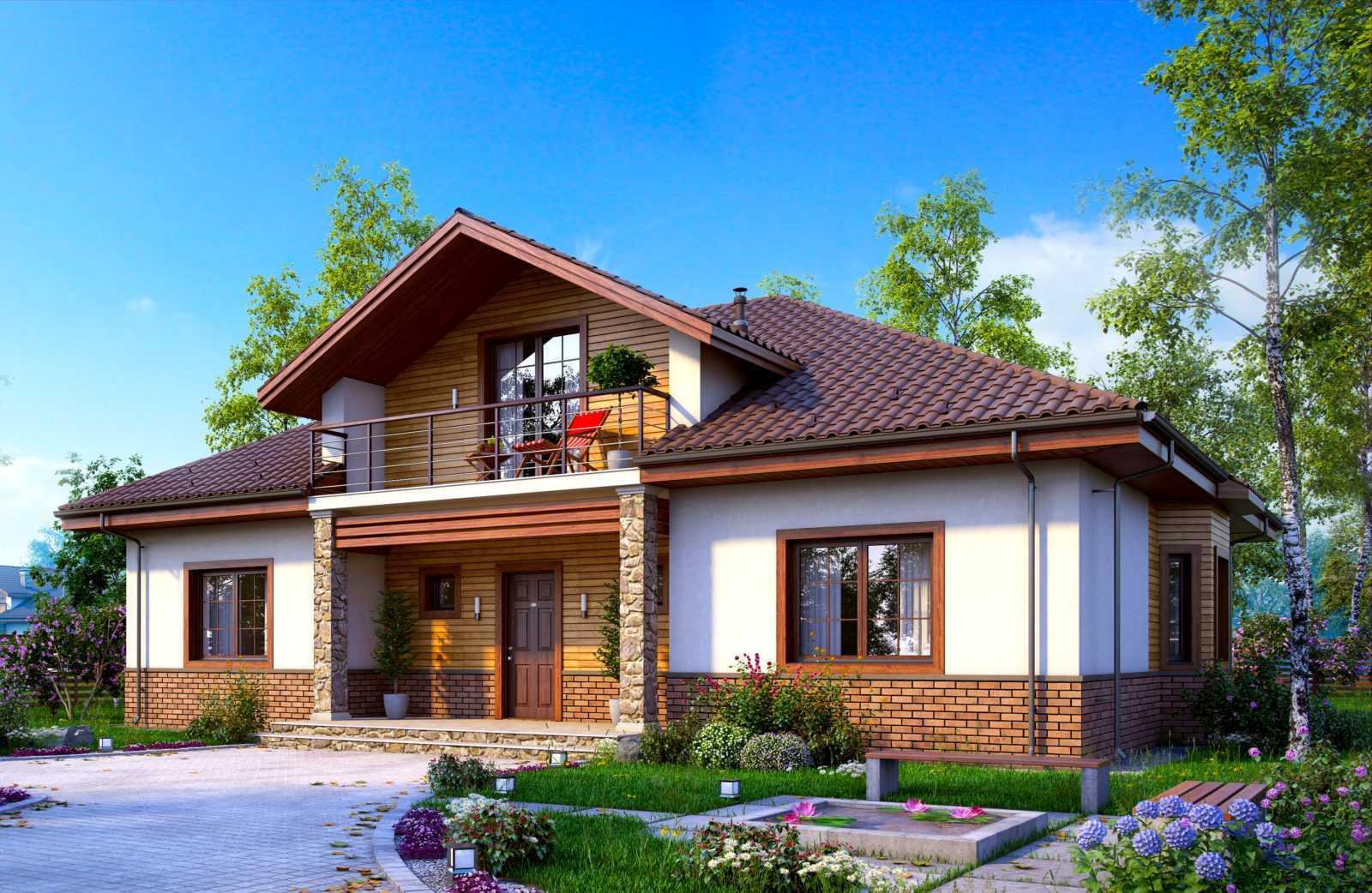 Дом с мансардой - 120 фото современного дизайна. лучшие решения и проекты домов