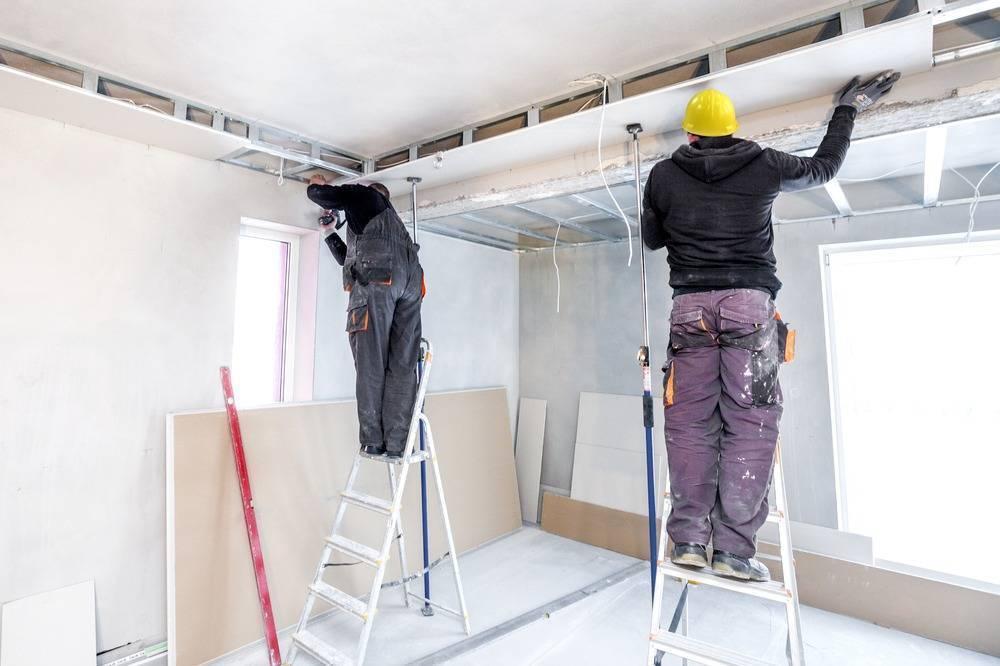 Как разобрать гипсокартонный потолок и стоимость демонтажа за м2