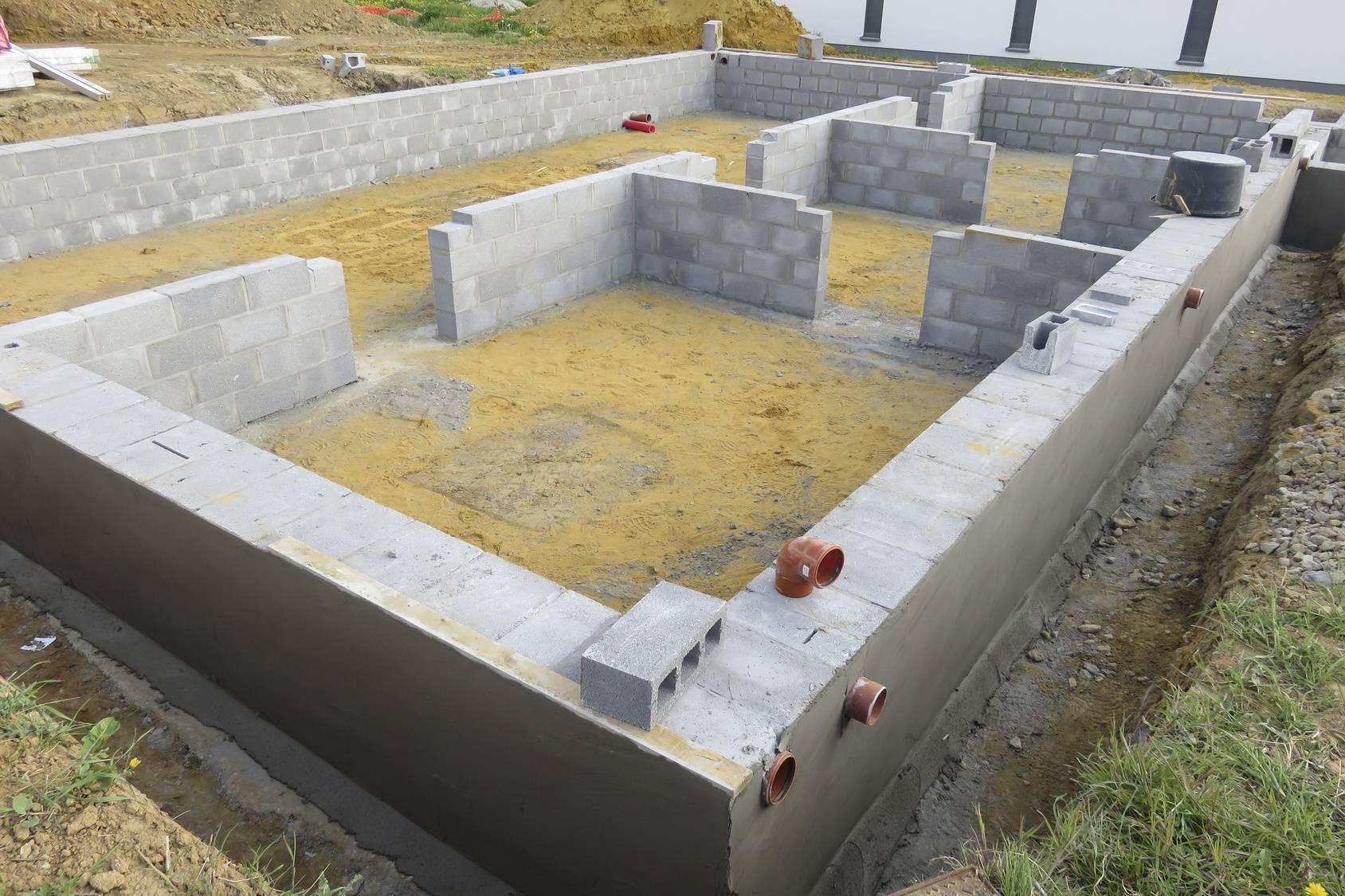 Фундамент из газобетонных шлакоблоков