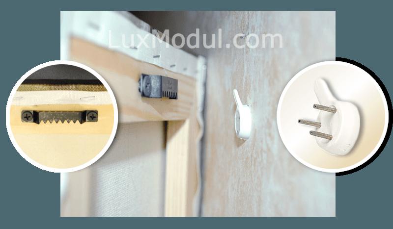 Как закрепить модульную картину на стене - клуб мастеров
