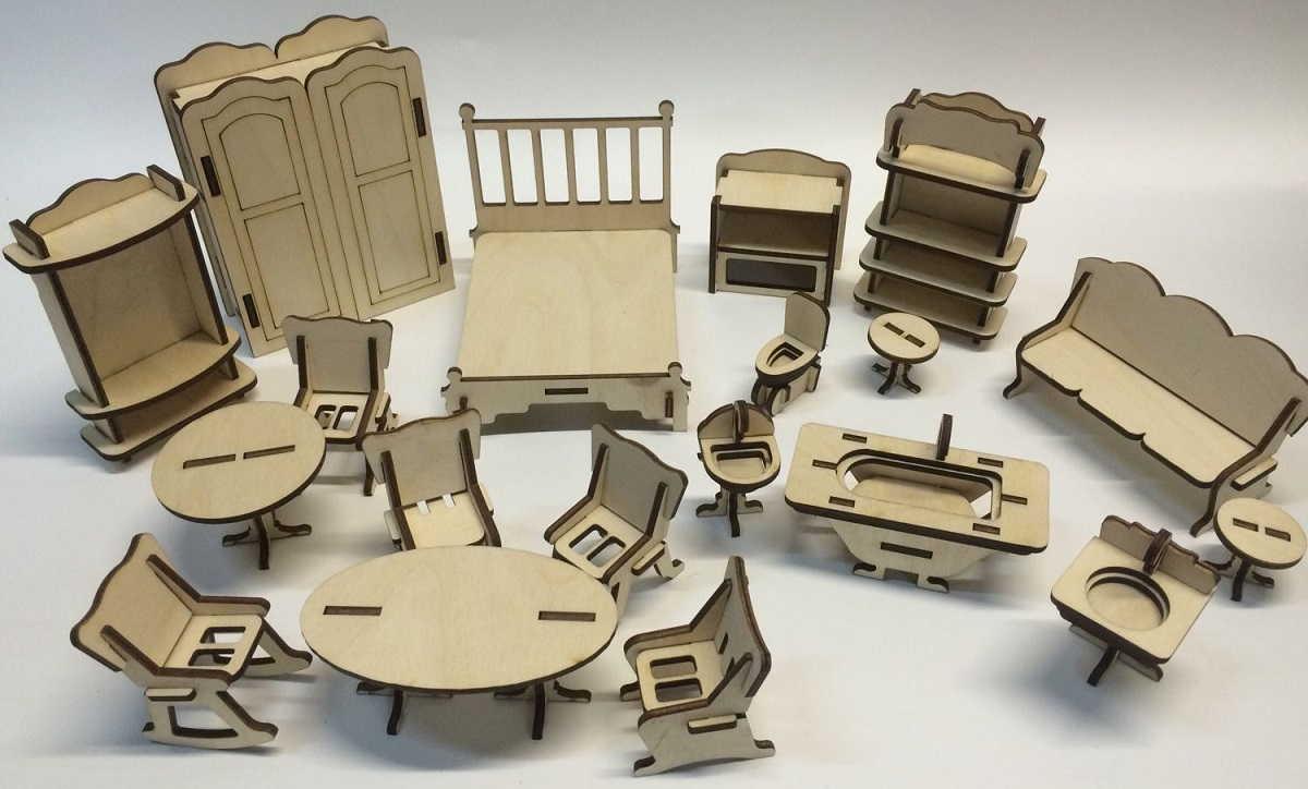 Мебель для кукольного домика своими руками (50 фото): как сделать, видео мастер-классы по игрушечной мебели