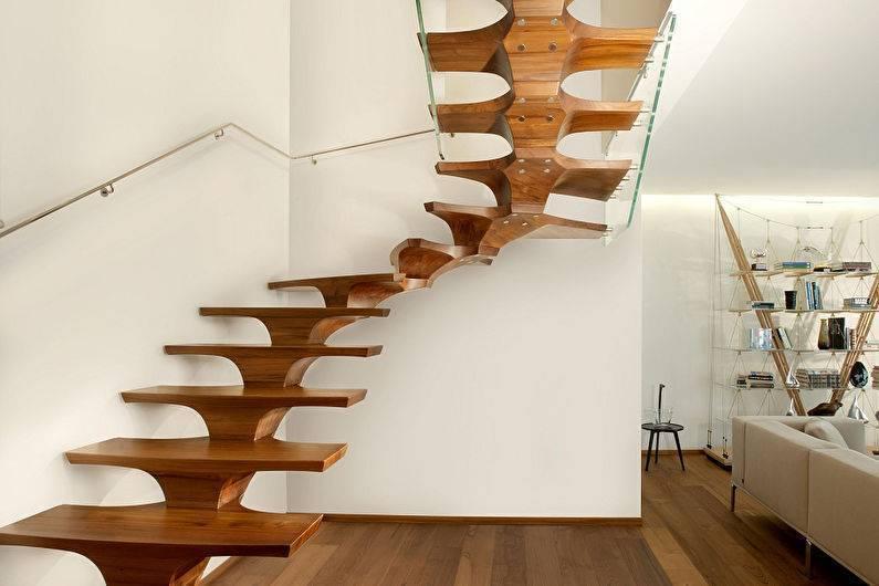 Современная лестница на второй этаж своими руками