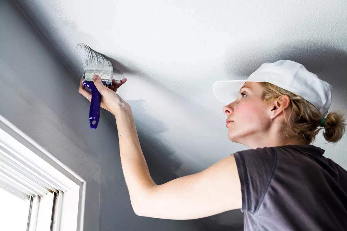 Как покрасить гипсокартон: красим потолок и стены своими руками