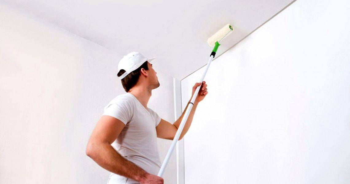 ????как побелить потолок своими руками и стоимость квадратного метра - блог о строительстве