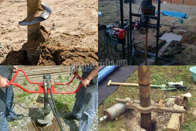Описание способов бурения скважины для воды