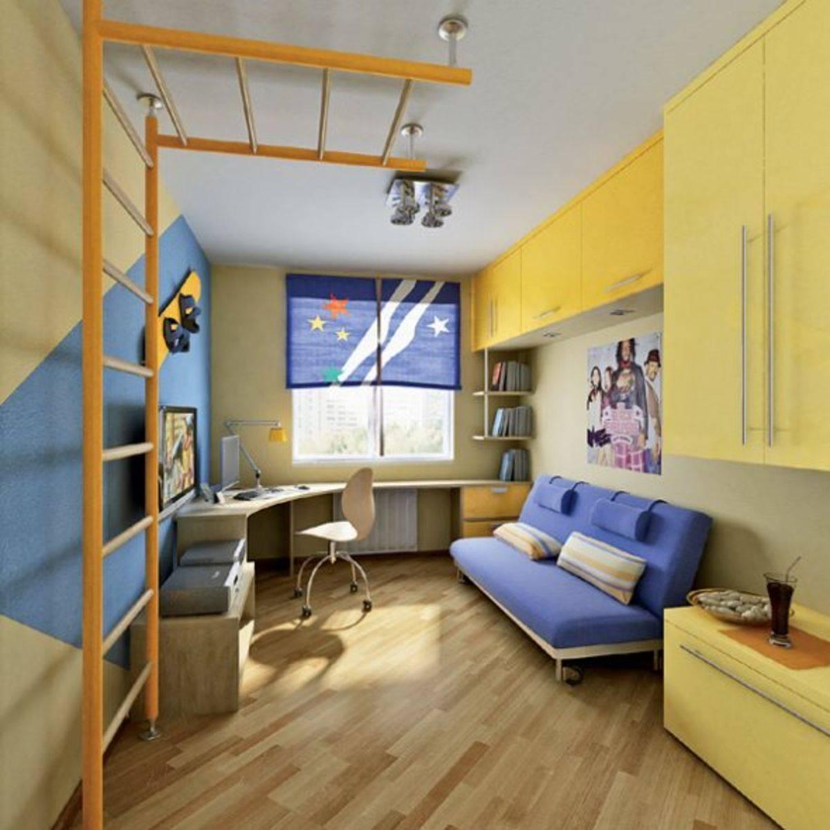 Дизайн детской комнаты для мальчика - идеи интерьера +50 фото