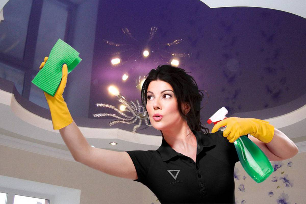 Как правильно мыть натяжные потолки в домашних условиях