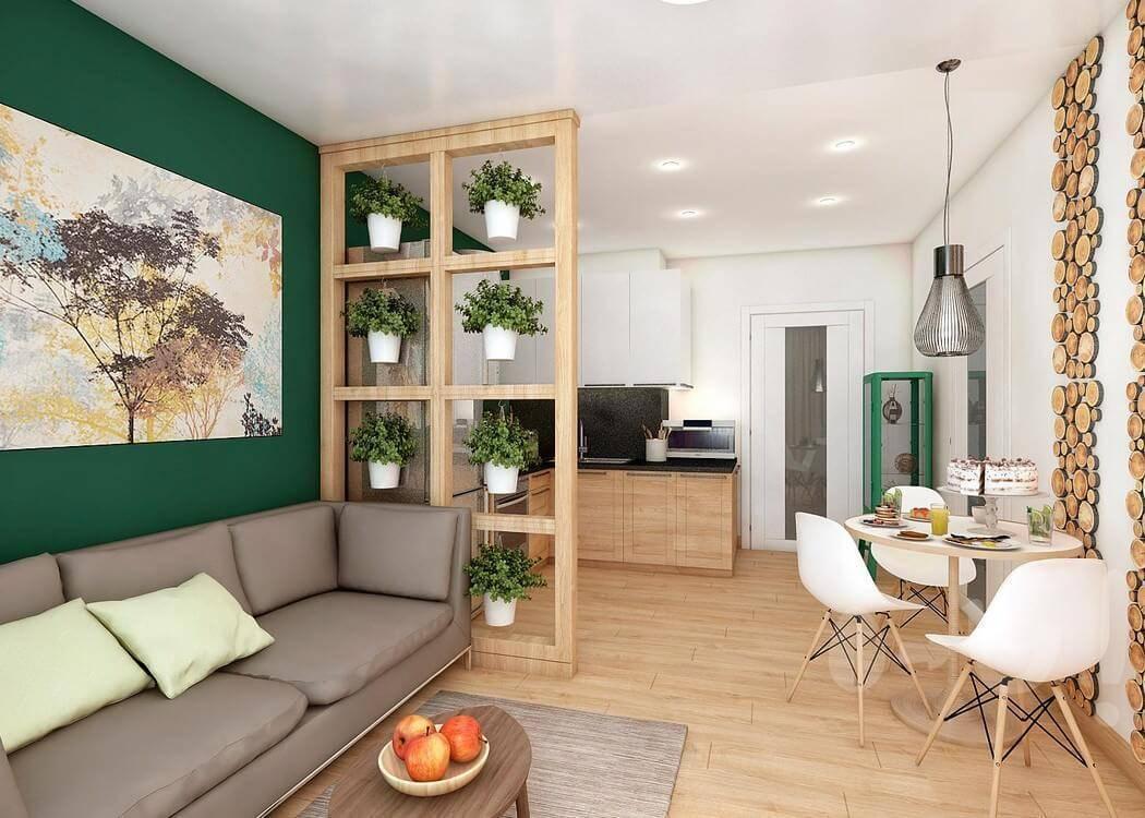 Зонирование квартиры-студии (58 фото): как отделить кухню от гостиной комнаты стеклянной перегородкой и аркой, раздвижные системы для спальни