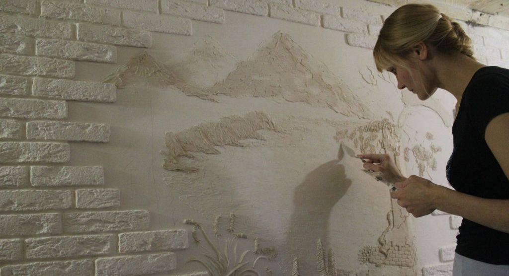 Создание барельефа на стене своими руками
