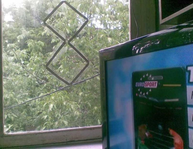 Антенна для телевизора из пивных банок схема