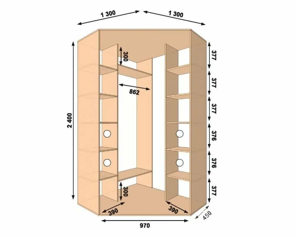 От чего зависит дизайн углового шкафа-купе? примеры с фото