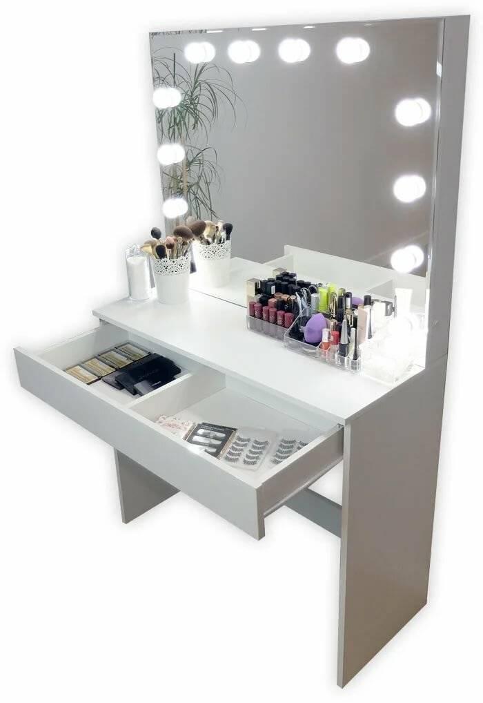 Столик туалетный с зеркалом и подсветкой