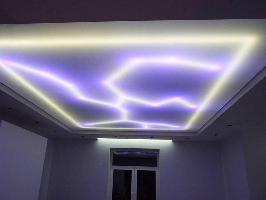 ????монтаж, фото и стоимость прозрачного натяжного потолка с подсветкой - блог о строительстве