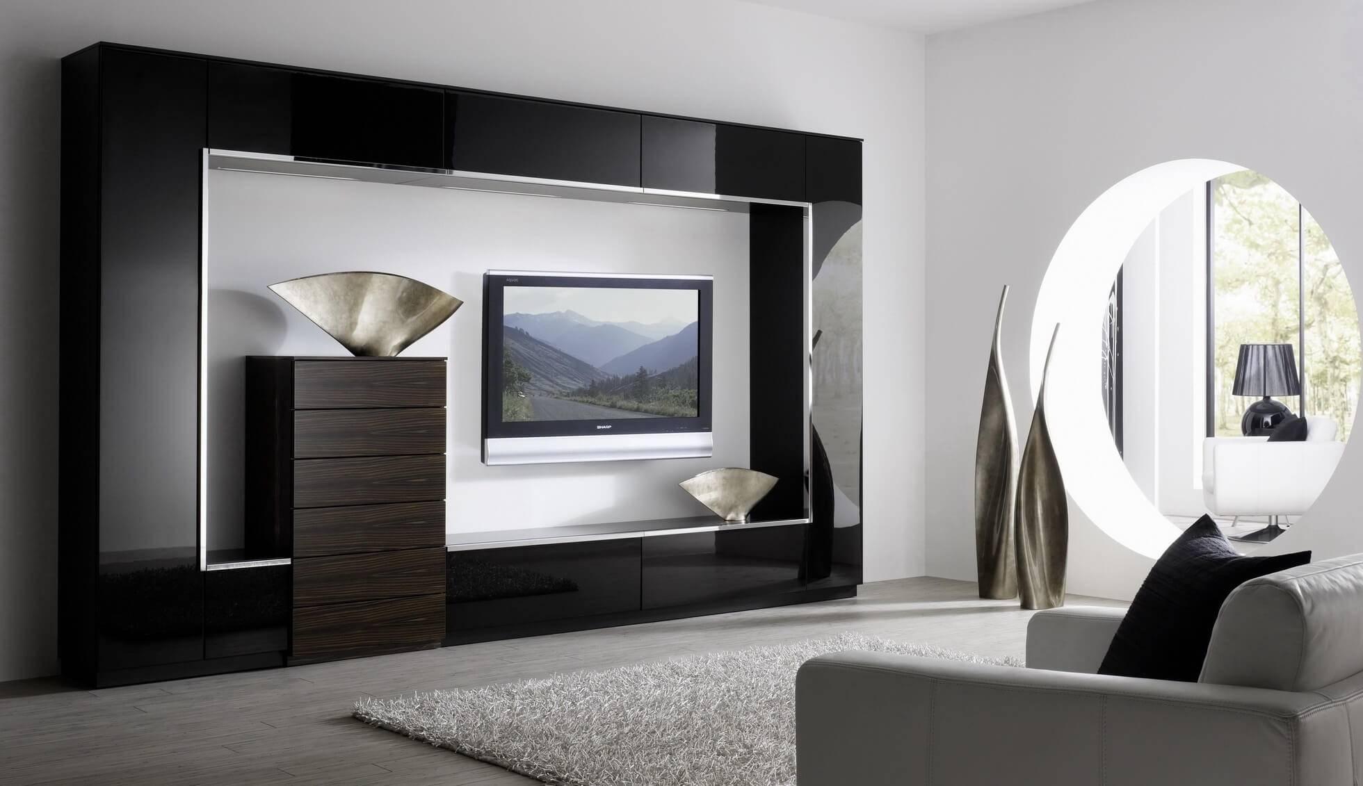 Стенка в гостиную в современном стиле: фото, дизайн