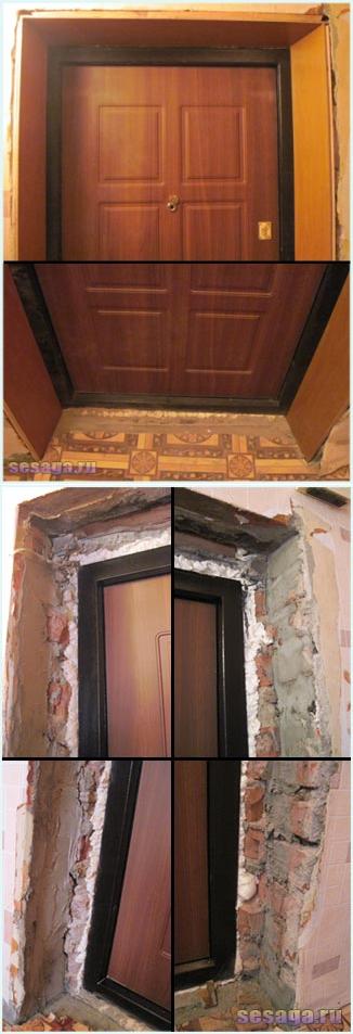 Откосы входной двери: варианты отделки + пошаговая инструкция!
