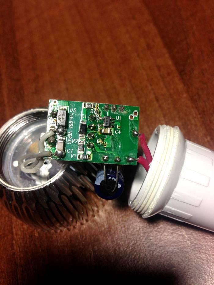Ремонт светодиодных led ламп, электрические схемы