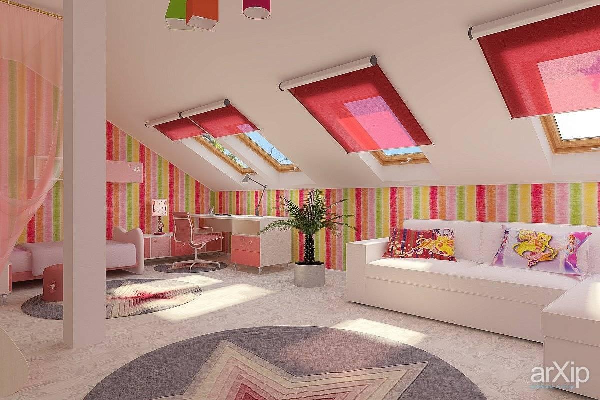 Дизайн мансарды - 90 фото примеров интерьера