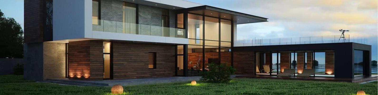 Проекты домов в стиле хай-тек, черты функционального проектирования