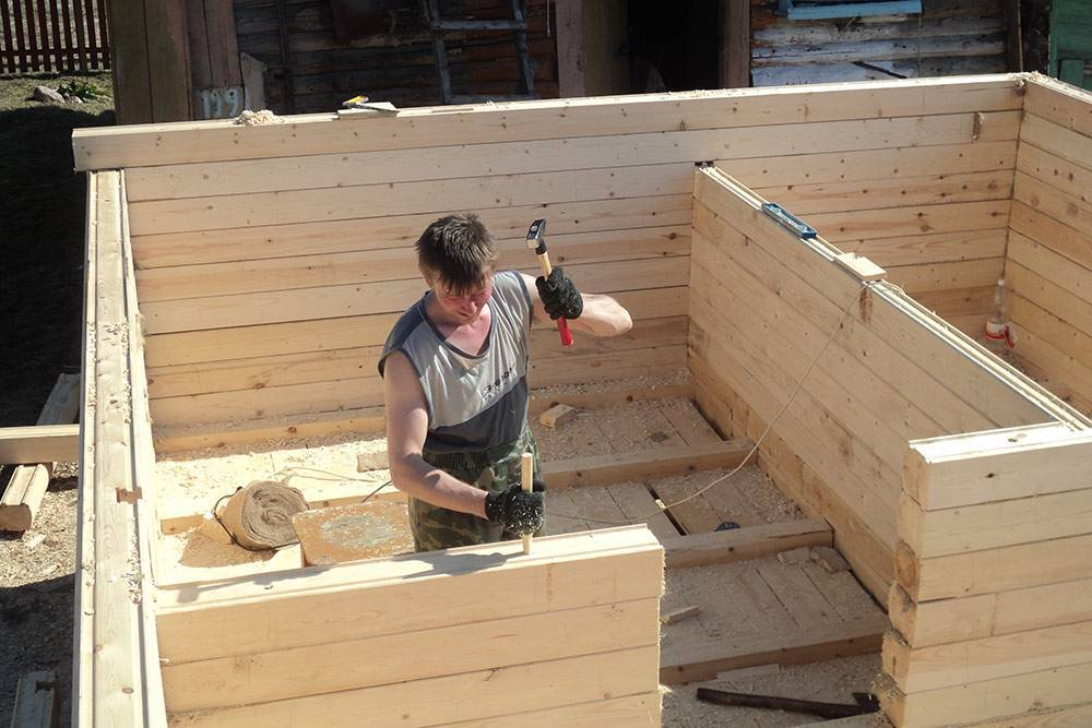 Как построить дом из бруса своими руками дешево и красиво — проекты, технология и видео