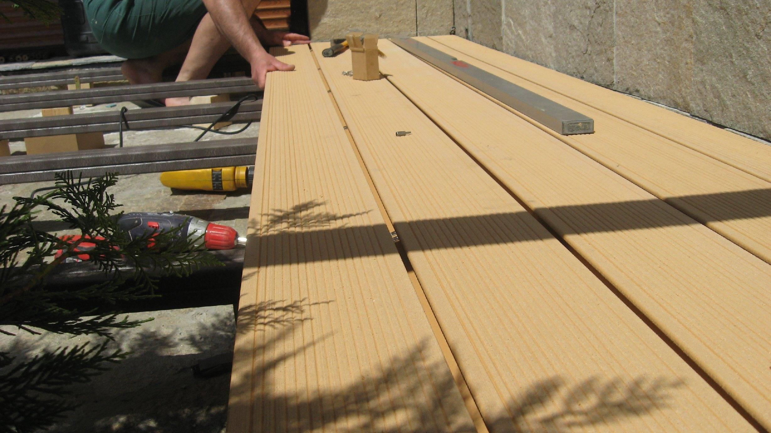 Укладка террасной доски из дпк - поэтапная инструкция по монтажу